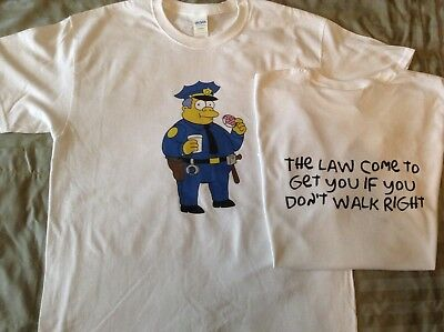 Chief Wiggum Grateful Dead Simpsons T-SHIRT Bob Weir Jerry Garcia Phil Lesh