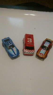 Vintage Lot of 3 Slot cars 2 race cars and 1 van Tyco vintage