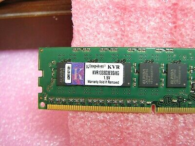 Kingston 8GB pc3-10600 ValueRAM ddr3-1333 2Rx8 kvr1333d3e9s/8g ECC unbuffered
