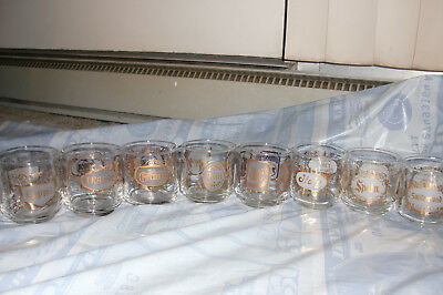 Twa Destination Glasses, Complete Set Of Eight