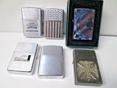 Lot of 6 Vintage Advertisement West Coast Choppers Cards Zippo Lighters