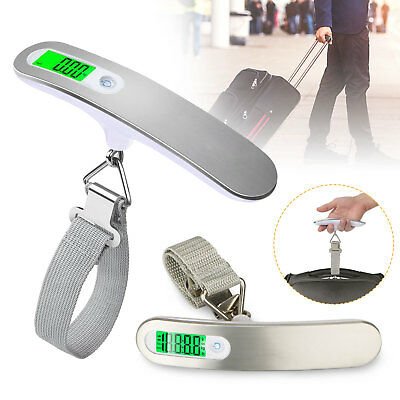 Mini 110lb/50kg LCD Display Balance Digital luggage Hanging Scale Hook Weight US