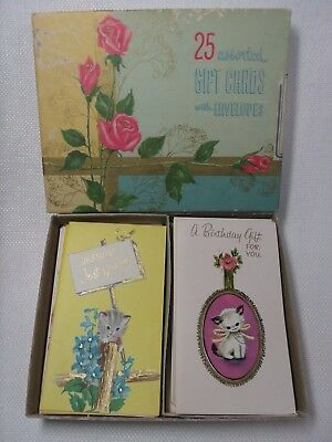 Vintage Greeting Cards ~ Small Assorted Cards Envelopes In Box