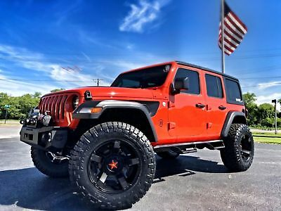 """2018 Jeep All-New Wrangler Unlimited PUNKN SPORT S CUSTOM LEATHER HARDTOP LOADED PUNKN SPORT 24S*CUSTOM*LIFTED*LEATHER*HARDTOP*OCD*37"""" NITTOs*IRON CROSS*QUAKE"""