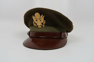 WW2 US Army military uniform dress jacket visor cap hat Officer Air Force Corp