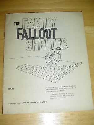 COLD WAR Fallout Shelter Booklet 1959 Radiation Atomic Bomb Russia VGC