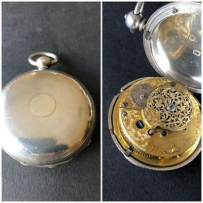 Solid Silver Full Hunter Verge Fusee London 1852