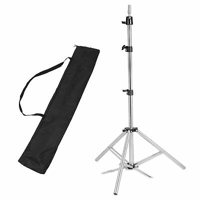 "63"" Adjustable Tripod Stand Salon Mannequin Head Hairdressing Train Holder"