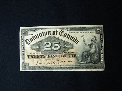 25 Cent Paper Note Canada January 2, 1900