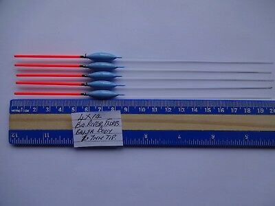 5 No,hand Made Long Red Tip  4X14 Big River   Pole Floats