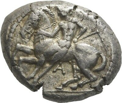 Lanz Greek Cilicia Kelenderis Goat Horse Youth Ethnic Ivy Stater Silver ±Tez2370