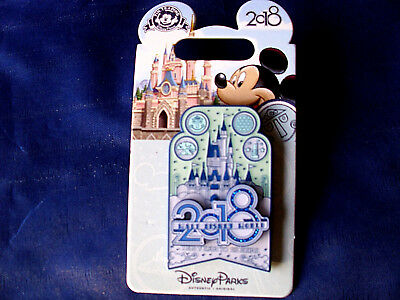 Disney * WDW LOGO - DATED 2018 - THE YEAR TO BE HERE * New on Card Trading Pin