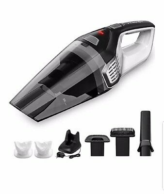 Homasy Portable Handheld Vacuum Cleaner, Lightweight Cyclone Suction, Cordless