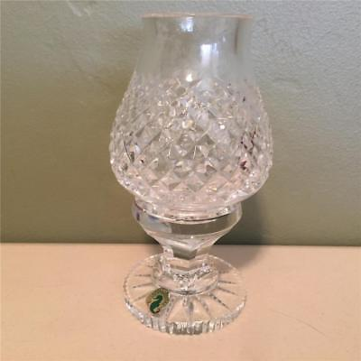 Beautiful WATERFORD Crystal ALANA Pattern Hurricane - Fairy Lamp - NWT
