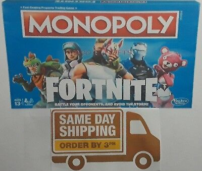 NEW & SEALED Monopoly: Fortnite Edition Board Game Inspired by Fortnite Fast S/H