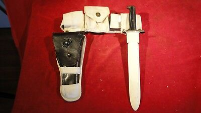 Great Ww2 Era Military Police's Belt-Buckle Bayonet And Holster-Marine Insignia