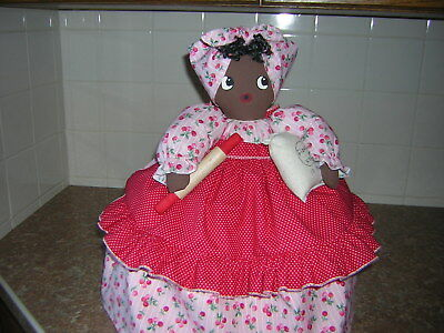 ~~TOASTER COVER DOLL~~2 slice toaster~~Black Americana Mammy~~Cherries~~~