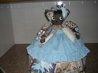 ~~TOASTER COVER DOLL~~2 slice toaster~~Black Americana Mammy~~~Tropical Theme~~~