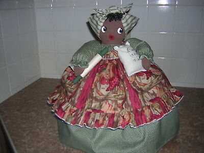~~TOASTER COVER DOLL~~2 slice toaster~~Black Americana Mammy~~Grapes~~~