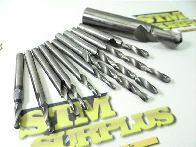 11Pc Lot Of Solid Carbide Step Drills 4.2Mm To 17.0Mm Dia. Tci