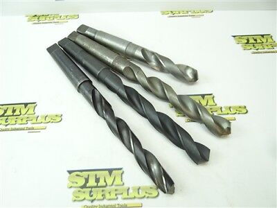 """Lot Of 4 Hss 3Mt Drills 13/16"""" To 59/64"""" Guhring Besly Hercules"""