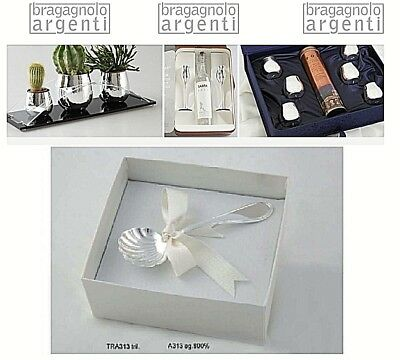 TEASPOON clamshell CHEESE Cm.12,5 silver 999% MULTI-LAYER TRA313G