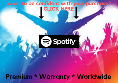 Spotify Premium 12 Months [ Instant Delivery ] Warranty ~ Own or New Account HOT