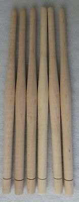 """6 NEW UNFINISHED SOLID MAPLE  BULBOUS TURNED CHAIR SPINDLES 12"""" high"""