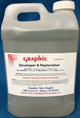 Graphic 3000 Developer Concentrate Runs Clean And Long 5 Gallons