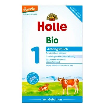 2 Holle Organic Stage 1 Baby Milk Formula, 0-6 months, 400gr, FREE SHIPPING