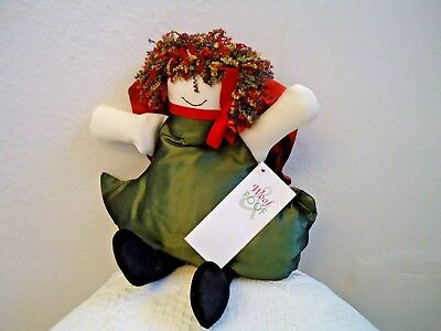 Woof and Poof: SHELF SITTER GREEN ANGEL WITH RED WINGS 2004.... XM-300-18