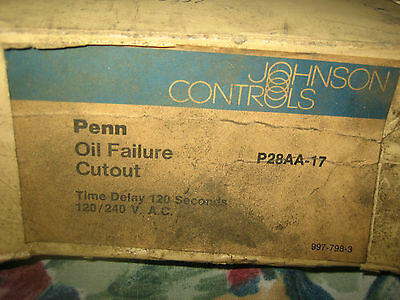 """Johnsons Controls Oil Failure Cutout Part #p28Aa-17 New """" Old Stock """""""