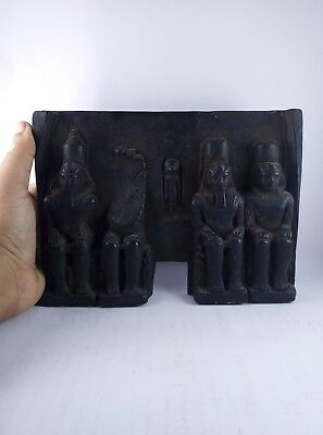 RARE ANCIENT EGYPTIAN ANTIQUE stone Abu Simbel Temple black Symbols Bc