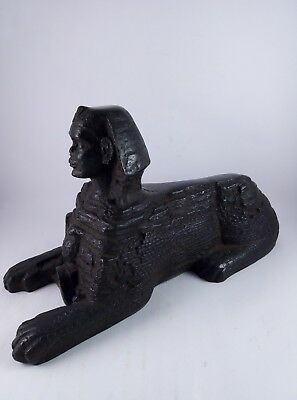 RARE ANTIQUE ANCIENT EGYPTIAN statue Sphinx Pyramids Giza 1400 Bc