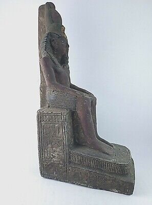 ANCIENT EGYPTIAN ANTIQUE STATUE Pharaoh Egypt King Ramses 1279-1213 Bc