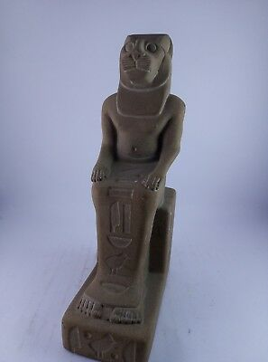 ANCIENT EGYPTIAN LIONESS GODDESS Sekhmet Statue Figure Figurine 1403–1365 Bc