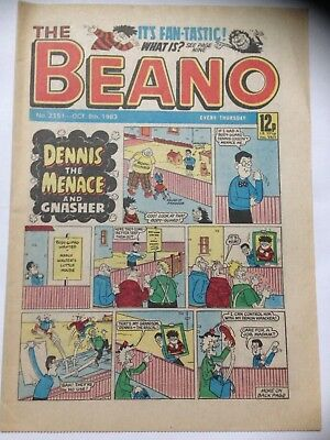 DC Thompson THE BEANO Comic. Issue 2151 October 8th 1983 **Free UK Postage**