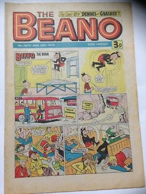 DC Thompson THE BEANO Comic. Issue 1675 August 24th 1974 **Free UK Postage**