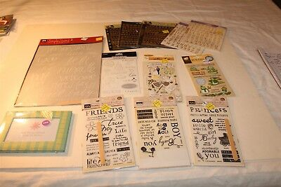 13 PC Lot Packages of Stickers Crafting Scrapbooking Album Different Themes