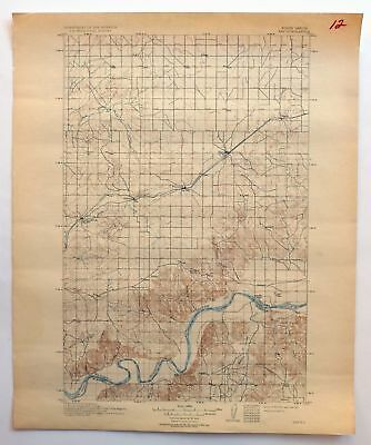 Ray North Dakota Vintage USGS Topo Map 1911 Lake Sakakawea Topographic
