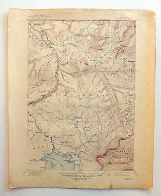 Canyon Wyoming Vintage USGS Topographic Map 1911 Yellowstone National Park Topo