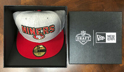 big sale c4ca4 a3573 ... switzerland san francisco 49ers new era 2018 nfl draft official on  stage 59fifty fitted hat 40881