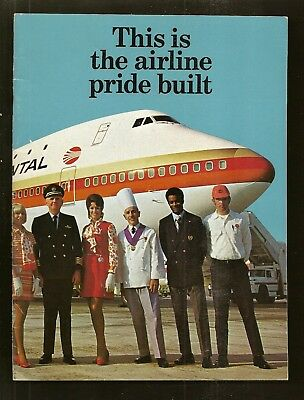 1970's Continental Airlines This Is The Airline Pride Built Booklet 24 pages