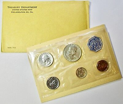 1963 P US Mint Silver Proof Coin Set w/ Envelope