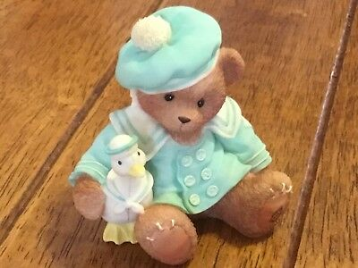 """Cherished Teddies Cole """"We've Got A Lot To Be Thankful For"""" Bear with Duckie"""