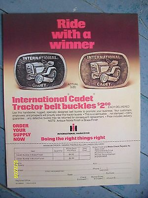 Vintage HTF IH International Harvester Cub Cadet Tractor Belt Buckle Flyer