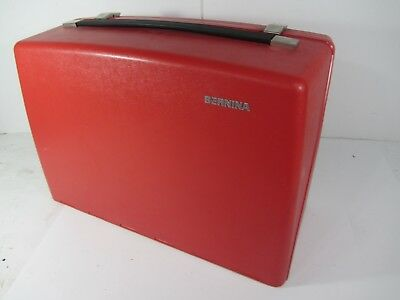 Vintage RED Bernina 830 Record Sewing Machine CASE ONLY with Inner Styrofoam Red