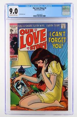 Our Love Story #2 -NEAR MINT- CGC 9.0 VF/NM - Marvel 1969