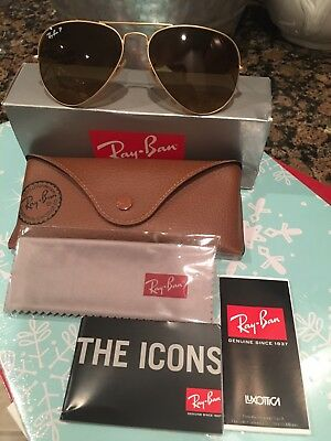 Ray Ban sunglasses women aviator Pre Owned Authentic