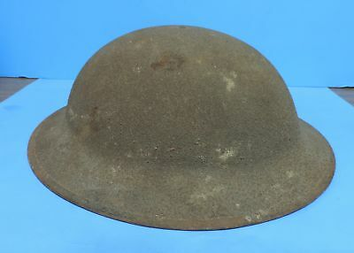 WWI US Army / Marines Doughboy Textured Helmet w/ Liner & Leather Chin Strap